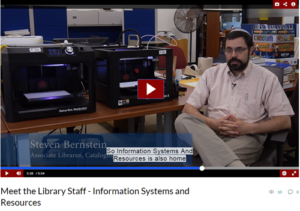 Meet the Library Staff - Information Systems & Resources Unit