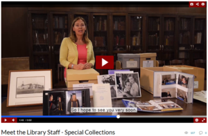 Meet the Staff - Special Collections video screenshot